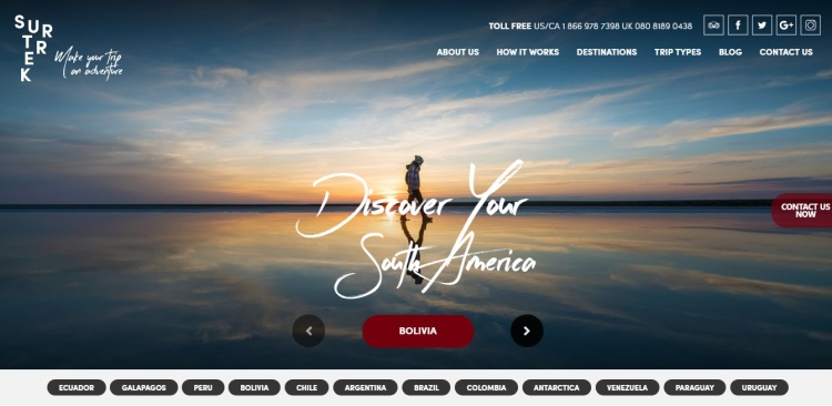 Homepage of Discover Your South America | ItinerWord Blog